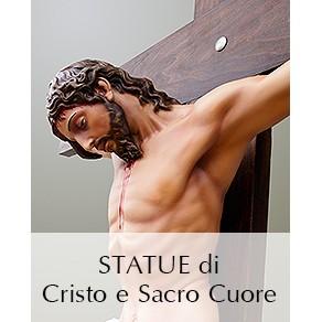 STATUE CRISTO E SACRO CUORE