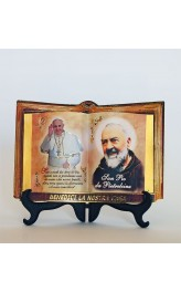 Libro aperto Papa Francesco 17x12cm