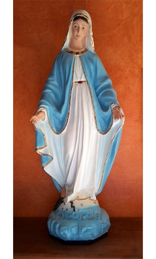 Statua Madonna Immacolata da cm60 merletto