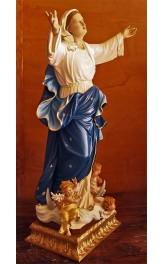 Statua Madonna della Assunta con Angeli cm 95