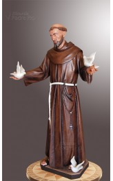 Statua San Francesco d'Assisi 140cm