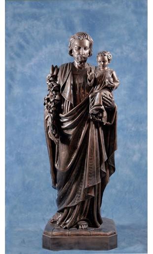 Statua San Giuseppe con Gesù bambino 180cm