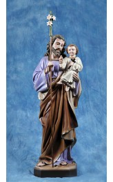 Statua San Giuseppe con Gesù bambino 85cm