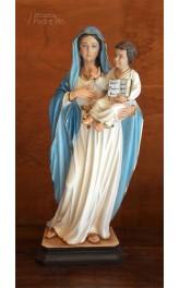 Statua Madonna con Bimbo 64cm