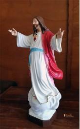 Statua Sacro Cuore di Gesù 45cm