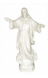 Statua Sacro Cuore di Gesù 85cm effetto Capodimonte