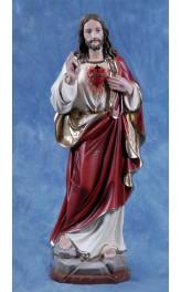 Statua Sacro Cuore di Gesù benedicente 60cm