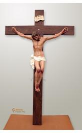 Cristo in resina-polvere di marmo da 120cm